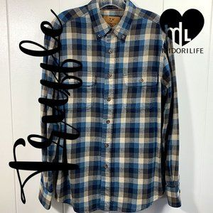 OUTDOOR LIFE Button-down Flannel